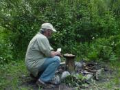 Frying Fresh Trout with the Tipi Stove